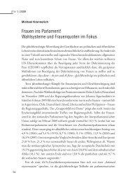 Frauen ins Parlament! Wahlsysteme und Frauenquoten im Fokus