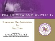 Assessment Plan Presentation for Core Team