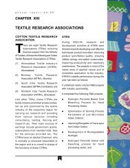TEXTILE RESEARCH ASSOCIATIONS - Ministry of Textiles