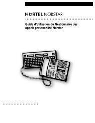 Guide d'utilisation du Gestionnaire des appels personnalisé Norstar