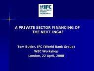 World Bank & International Finance Corporation, Tom Butler