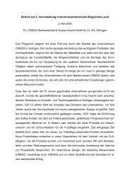 Bericht - Innovationsdrehscheibe Bergisches Land