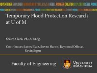 Temporary Flood Protection Research at U of M - City of Yorkton