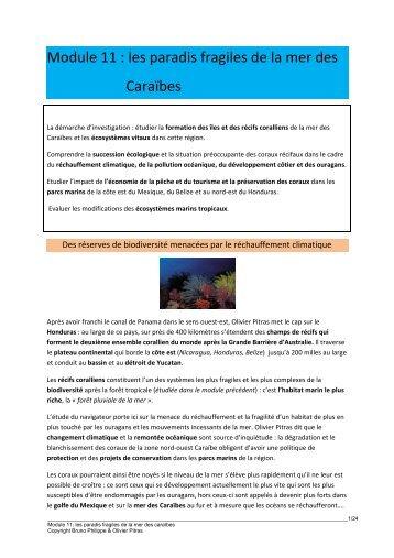 Module 11 : les paradis fragiles de la mer des Caraïbes - 69 Nord