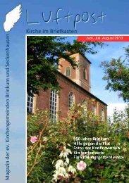 Juni, Juli, August 2013 - Kirchenregion Stuhr