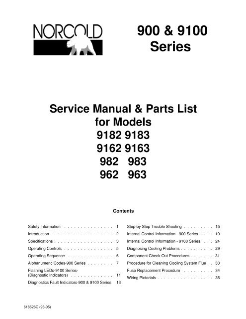 Norcold 900 Series Service manual - Bryant RV Services