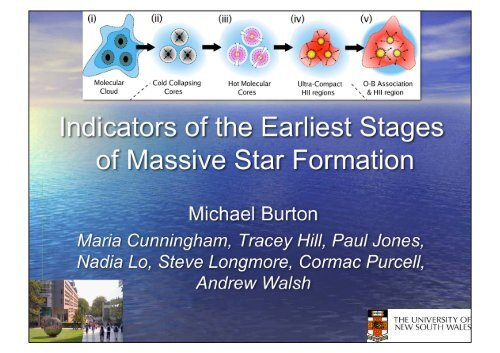Diagnostics of the Earliest Stages of Massive Star ... - CRyA, UNAM