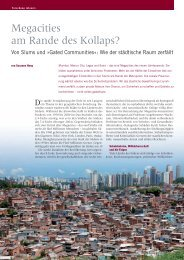 Megacities am Rande des Kollaps? - Goethe-Universität