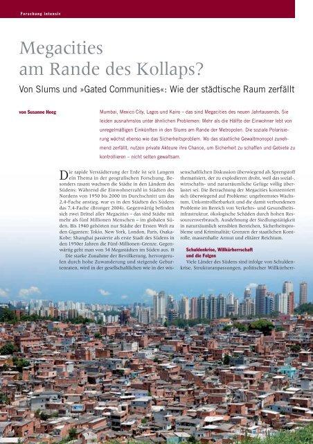 Megacities am Rande des Kollaps? - Goethe-Universität