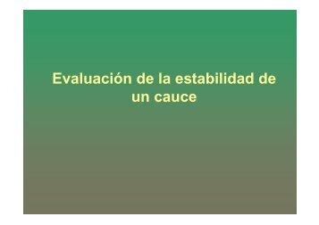 Evaluación de la estabilidad de un cauce - Universidad del Cauca