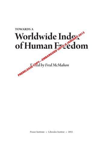 Towards a Worldwide Index of Human Freedom
