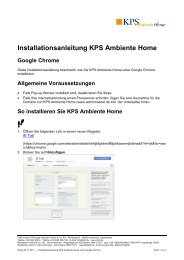 Installationsanleitung KPS Ambiente Home  - EasternGraphics