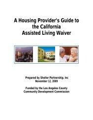 A Housing Provider's Guide to the California Assisted Living Waiver