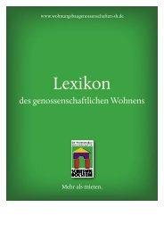 Lexikon - Die Wohnungsbaugenossenschaften Schleswig-Holstein