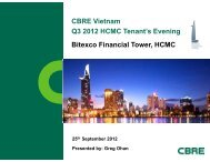 CBRE Vietnam CBRE Vietnam Q3 2012 HCMC Tenant's Evening ...