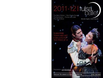 Tulsa Ballet 2011-2012 Season Brochure