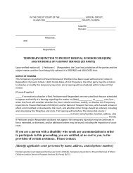 Temporary Injunction to Prevent Removal of Minor Child ... - LegalFill