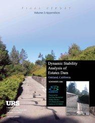 Stability Analysis of Estates Dam Volume 2 - East Bay Municipal ...