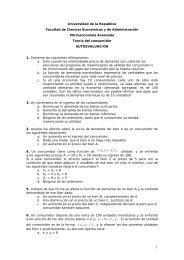 Universidad de la República Facultad de Ciencias Económicas y de ...
