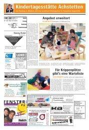 Kindertagesstätte Achstetten - Wohnen am Wildpark in Achstetten