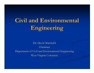 Civil and Environmental Engineering - CEMR - West Virginia ...