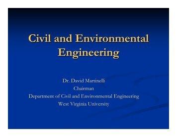 Civil and Environmental Engineering - CEMR - West Virginia ...