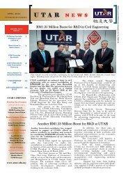 Utar Newsletter April 2010.indd - Universiti Tunku Abdul Rahman
