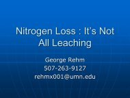 Nitrogen Loss : It's Not All Leaching