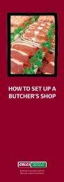 How to set up a butcher's shop - Eblex