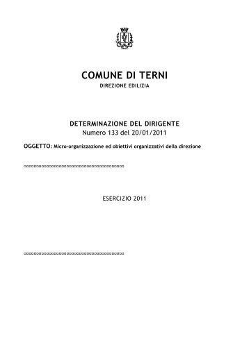 Direzione Edilizia privata - Comune di Terni