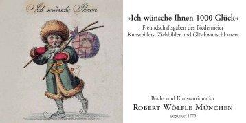 Ich wünsche Ihnen 1000 Glück« - Antiquariat Robert Wölfle