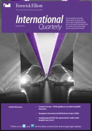 International Quarterly - Fenwick Elliott