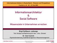 Informationsarchitektur & Social Software - IA-Tagung 2005