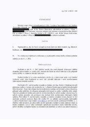 Usnesení o zamítnutí rozšíření Pasqualeho žaloby