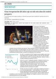 SOCIEDAD Gran recuperación del atún rojo en solo seis años de ...