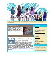 Fall 2007 Connection Newsletter - Boys & Girls Clubs of the East ...