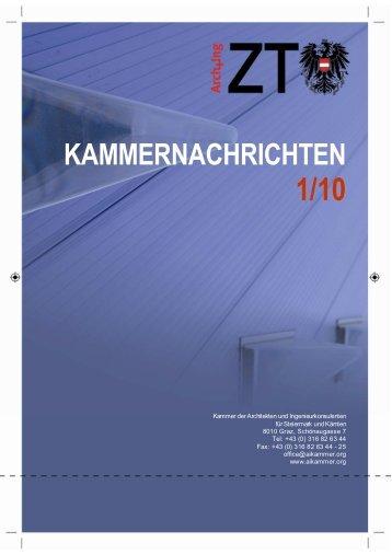 kammernachrichten - Kammer der ZiviltechnikerInnen für Steiermark ...