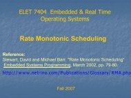 RMA and Scheduling