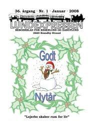36. årgang · Nr. 1 · Januar · 2008 - lundens.net