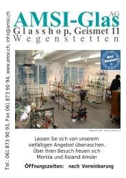 G lasshop, Geismet 11 Öf n gsz t - AMSI Glas AG, Glasapparate, Labor