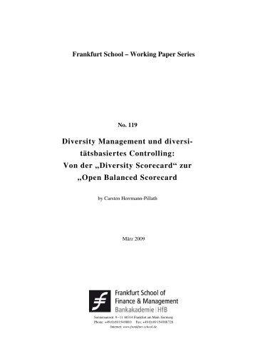 Diversity Scorecard - Frankfurt School of Finance & Management
