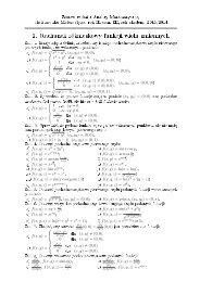 2. Rachunek róğniczkowy funkcji wielu zmiennych