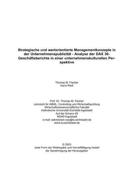 Strategische und wertorientierte Managementkonzepte in ... - EconBiz