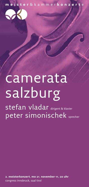 camerata salzburg - Meister & Kammerkonzerte
