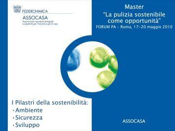 """Master """"La pulizia sostenibile come opportunità"""" I Pilastri della ..."""