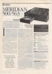 500 563 Review Audiophile Jan 1994 - meridian-audio[.info]
