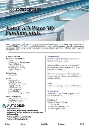 Autocad Plant 3D Fundamentals.pdf - Cadgroup