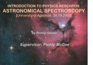 ASTRONOMICAL SPECTROSCOPY - deepstardust.de