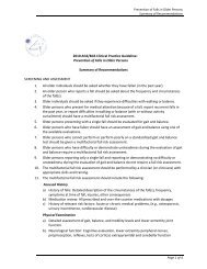 Prevention of Falls in Older Persons Summary of Recommendations ...