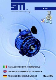 catalogo tecnico - commerciale technical ... - Neptun Gears